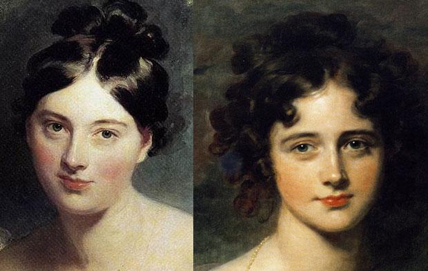 Thomas Lawrence Regency portraits - women's Regency makeup