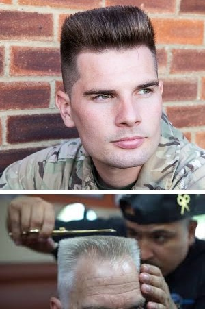 military men's hair