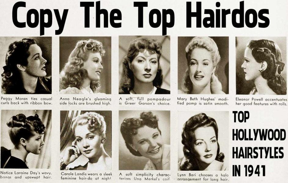 women's 1940s hairstyles