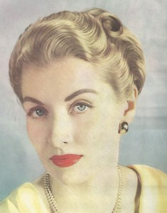 From a hair tint advert (Vogue, 1947)