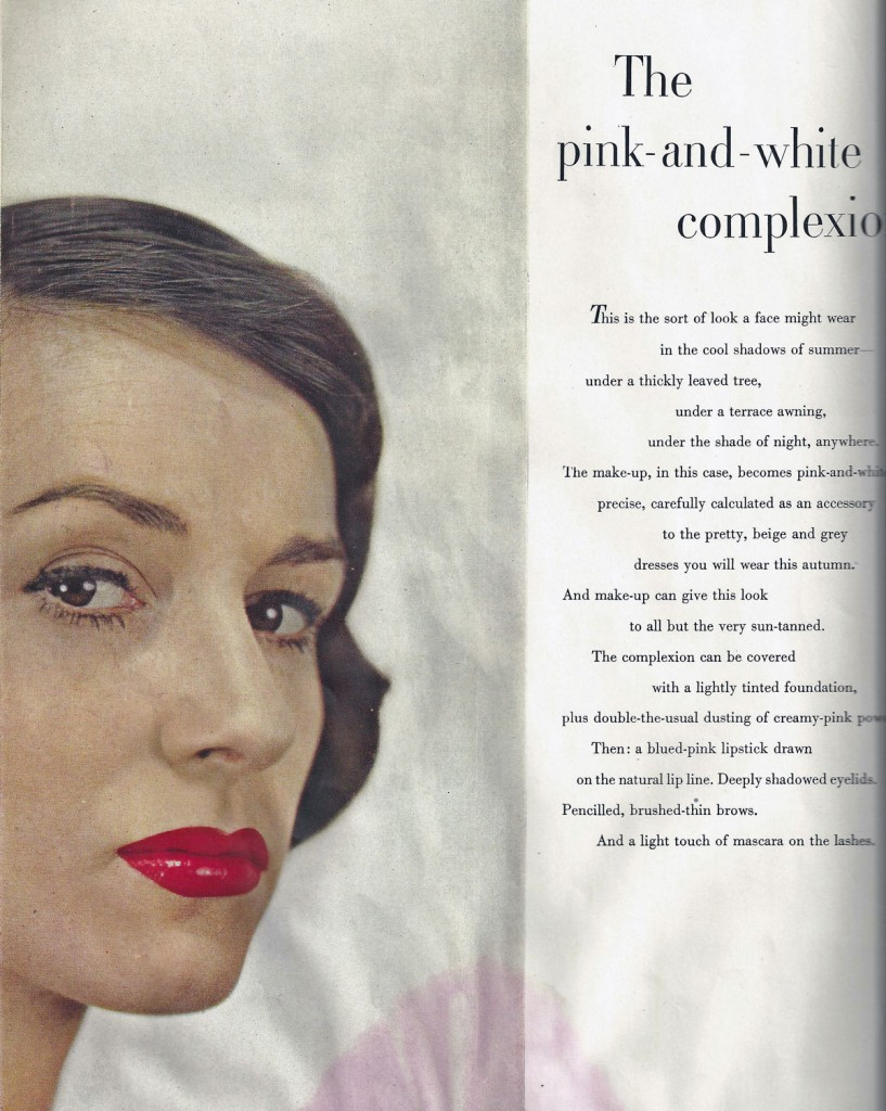 Makeup advice from a 1947 edition of Vogue