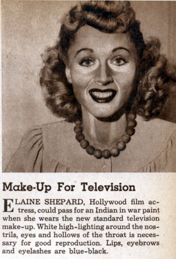 An extreme example, but shows how makeup was done for old black and white films.