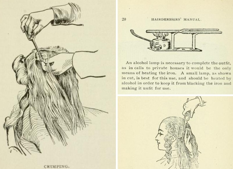 Hairdressing manual on crimping
