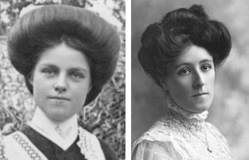 women's Edwardian pompadour hairstyles