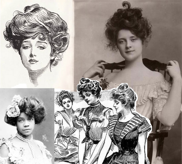 Illustrations of the Gibson Girl by Charles Dana Gibson.
