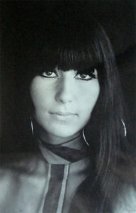 Cher with long hair (1960s)