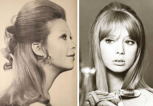 Long hair (1960s) women's 1960s hairstyles
