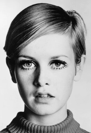 Twiggy with short hair (1960s)