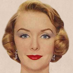 A typical 1950s makeup