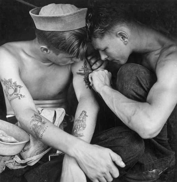 Tattooed sailors 1944