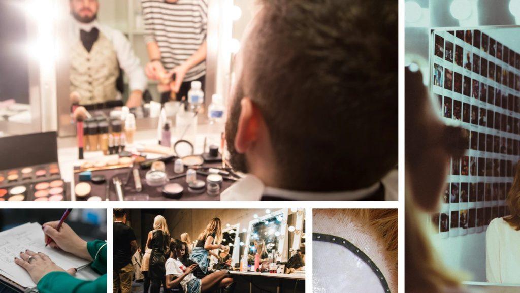 Where makeup artists work like film