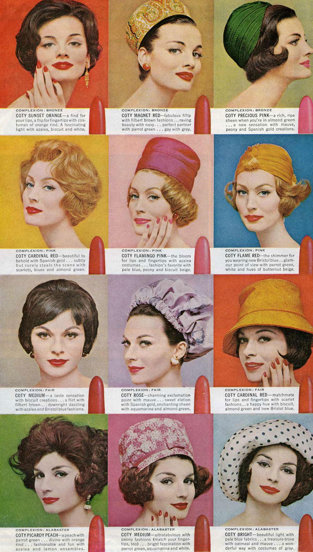Coty Lipsticks 1960s Hair And Makeup Artist Handbook