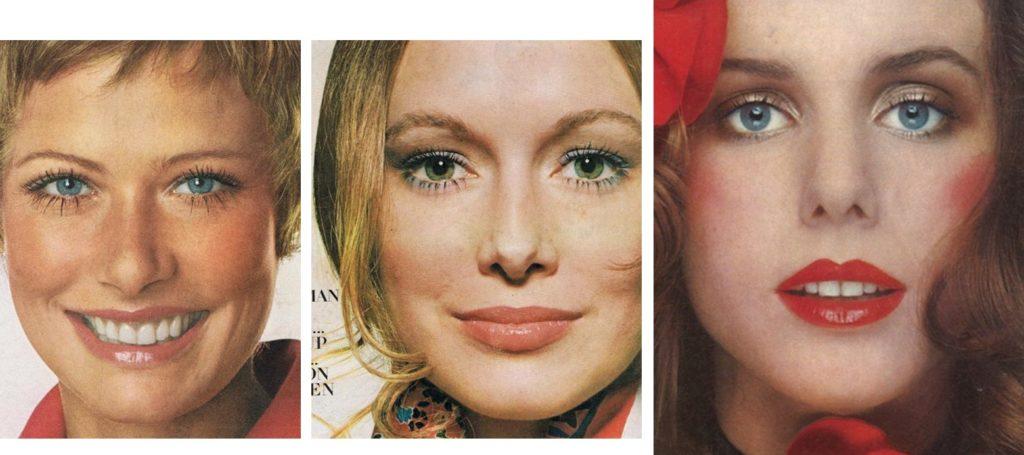 women's 1970s makeup