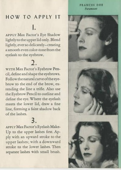 women's 1940s makeup how to instructions