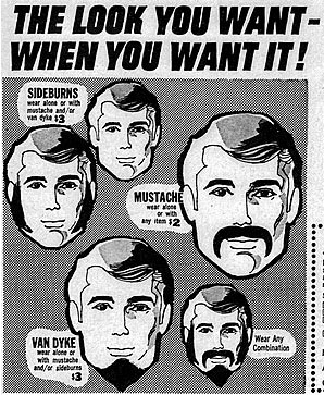 Fake moustache advert
