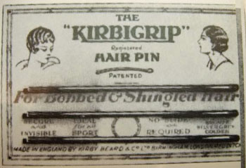 Women's 1920s hair and Kirbigrip