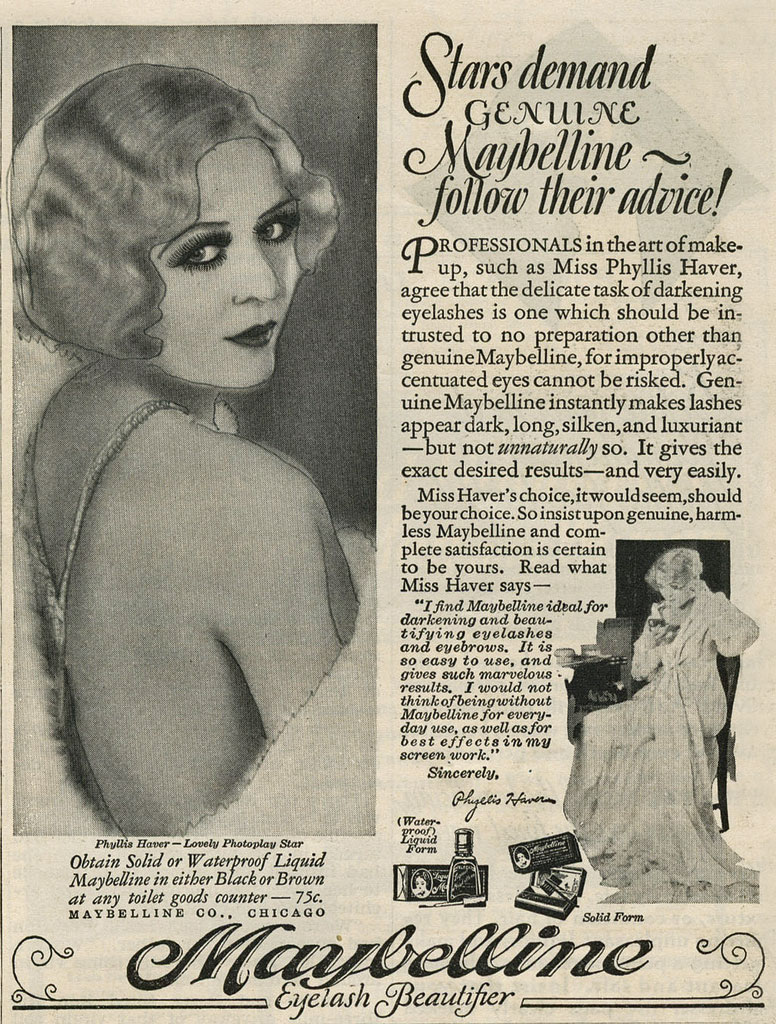 Hair And Beauty Adverts From The 1920s Hair And Makeup Artist Handbook - 1920s-makeup-ads