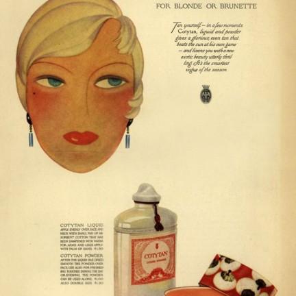 Coty Tan advert 1929