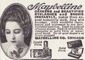 maybelline eyelash beautifier we call it mascara now 1920s