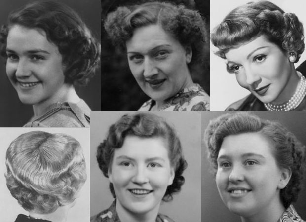 Short Waved And Curled 1950s Hairstyles