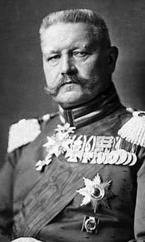 German Field Marshal Paul von Hindenburg in 1914