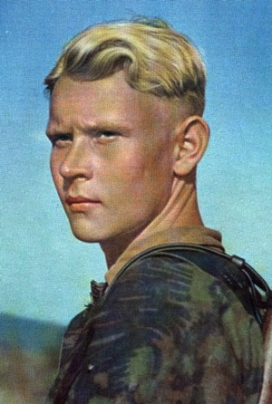 German soldier with undercut