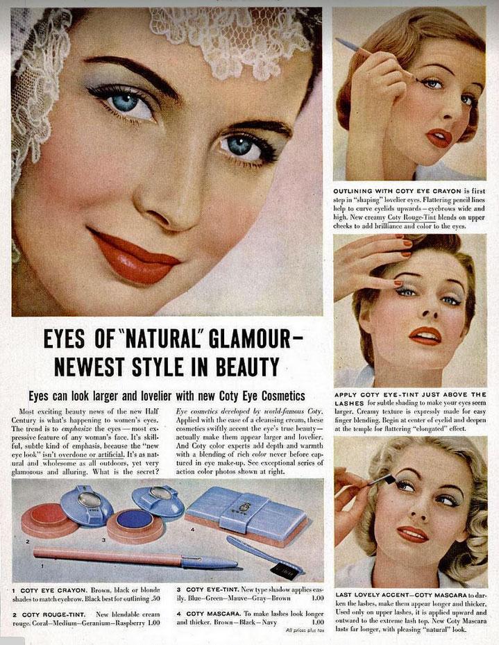 Coty advert (1950) - Hair and Makeup Artist Handbook