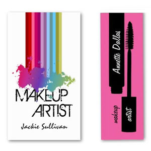 Business cards for makeup artists