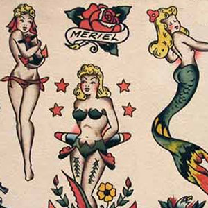 Sailor Jerry's tattoo style.
