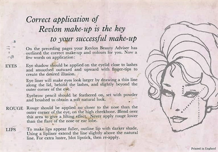 1950s makeup with Revlon