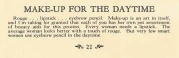women's 1920s makeup advice