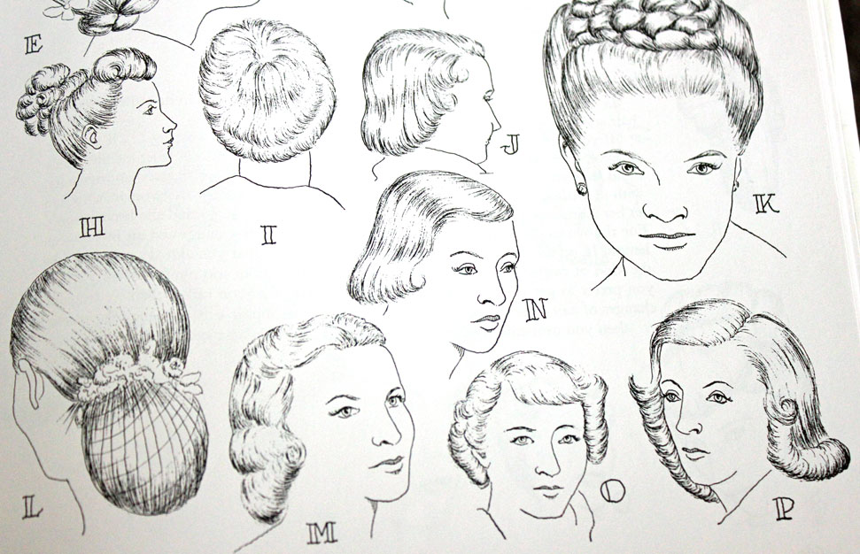 Shorter 1940s hairstyles