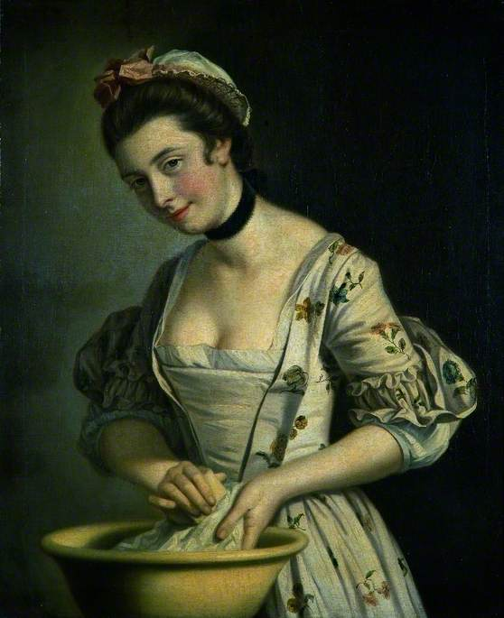 Morland, Henry Robert; A Lady's Maid Soaping Linen; The Holburne Museum; http://www.artuk.org/artworks/a-ladys-maid-soaping-linen-39412