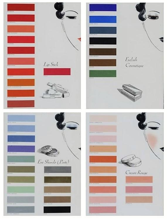 1930s makeup colours