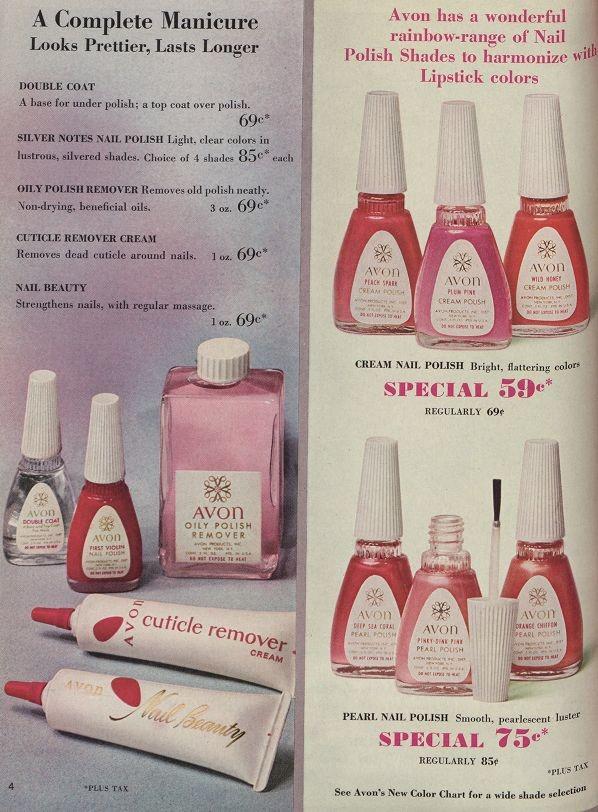 1960s makeup colours by Avon