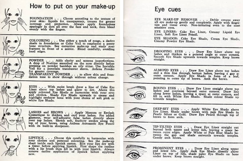 1960s makeup colours