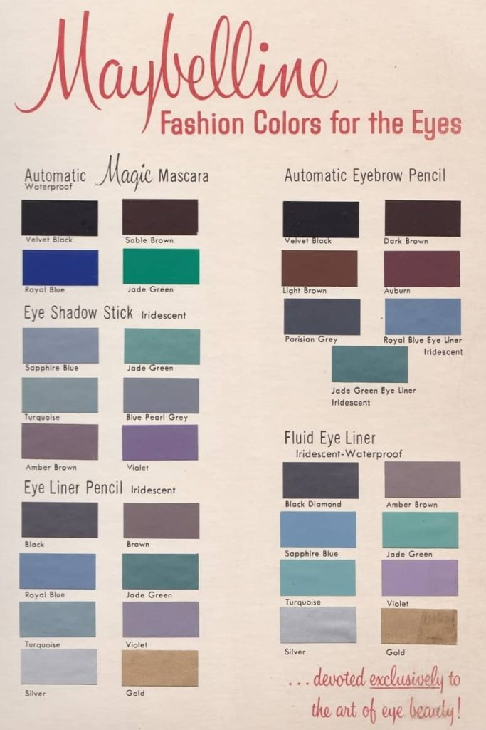 Maybelline 1960s makeup