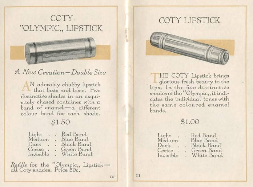 vintage 1920s makeup colours Coty