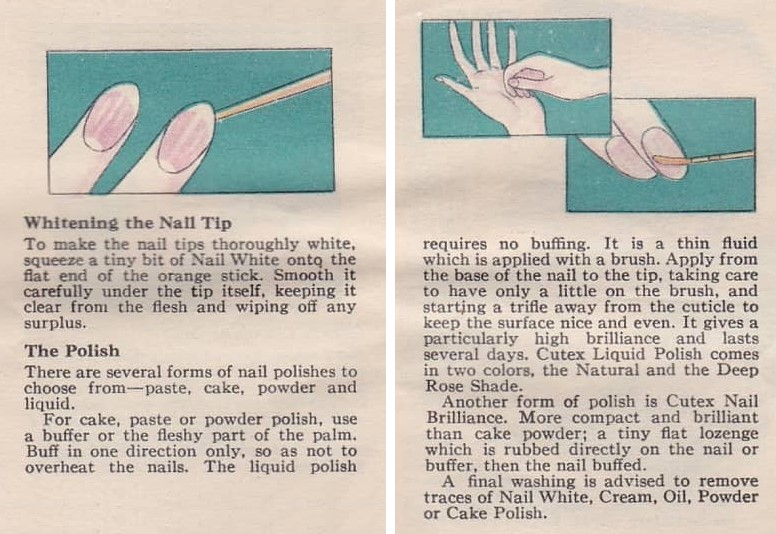 1927 Cutex How to Manicure