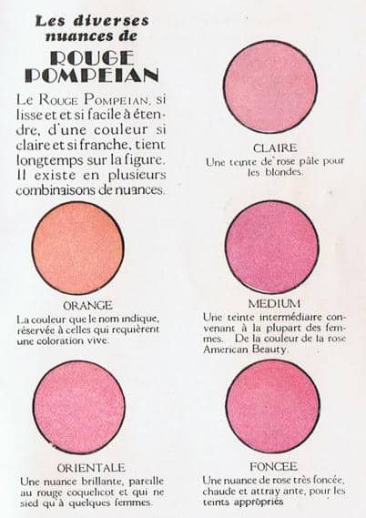 vintage makeup colours