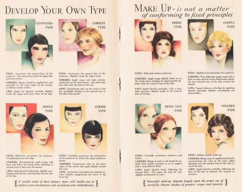 vintage 1920s makeup colours