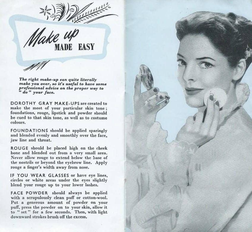 vintage makeup guide 1954