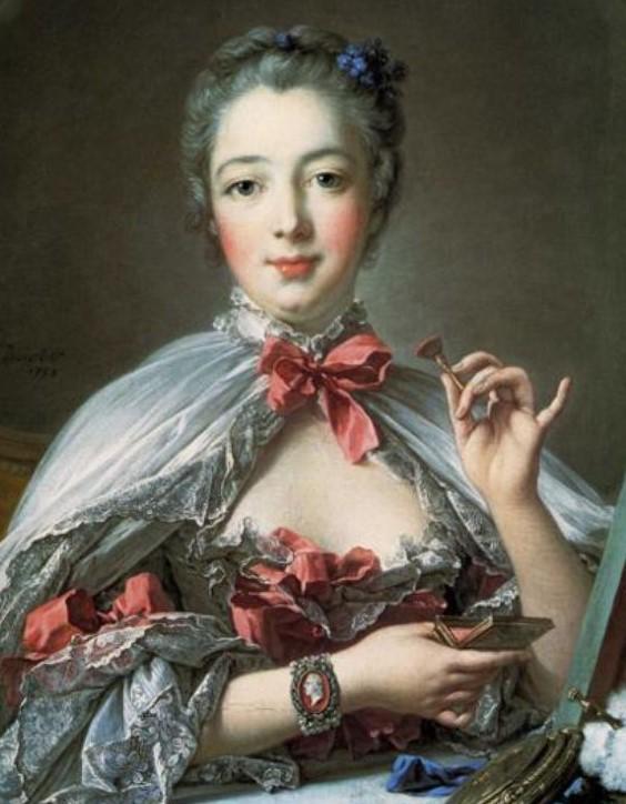 Women's Georgian makeup and Madame de Pompadour