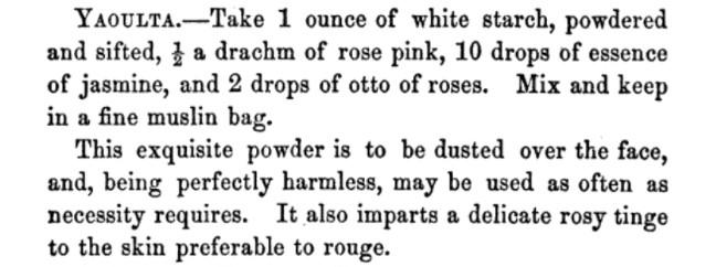 women's Victorian makeup recipes