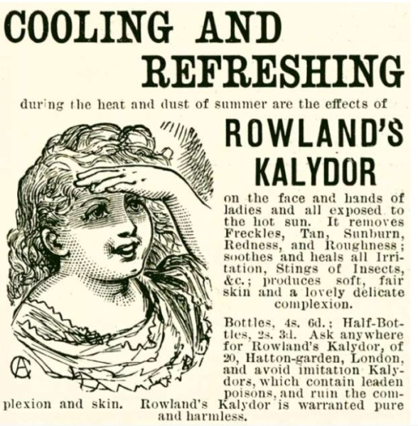 Women's Victorian makeup and adverts